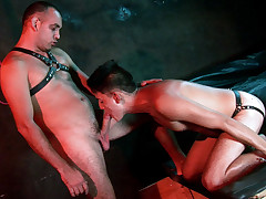Tied in a uber-cute bundle lad marionette gets used orally